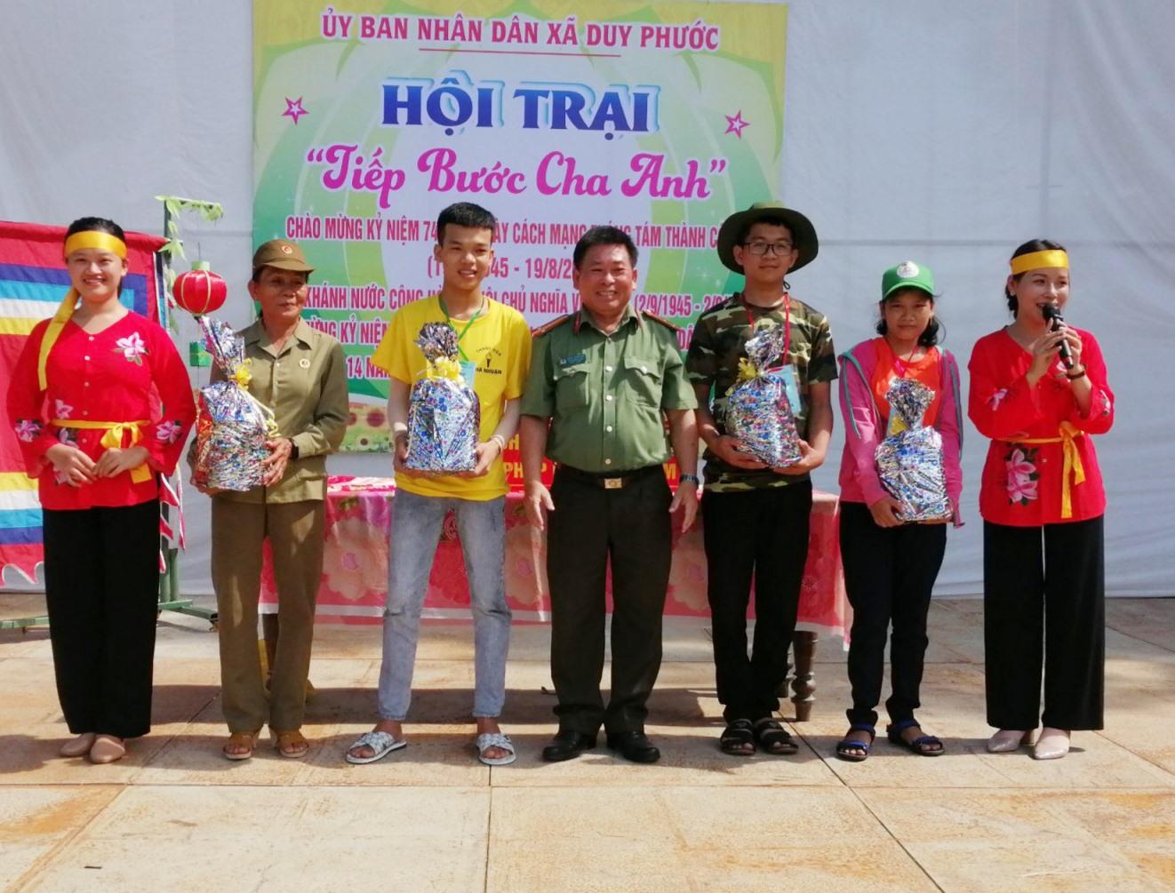 Ngày hội toàn dân bảo vệ ANTQ năm 2019 tại xã Duy Phước, huyện Duy Xuyên. Ảnh: V.KIM