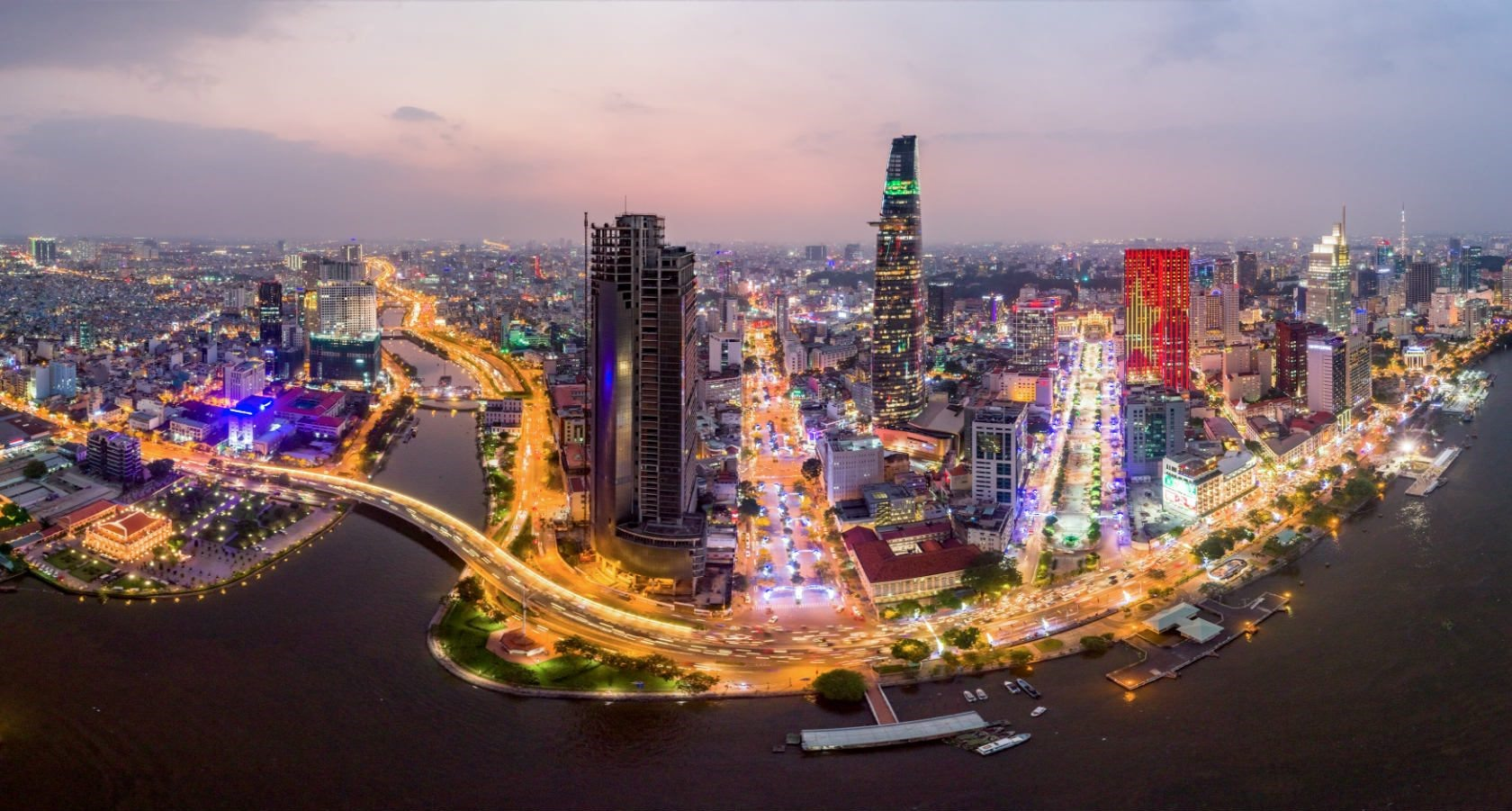 Ho Chi Minh city is popular with visitors for its skyscrapers with attractive French architectures. It is regarded as the most vibrant city in Vietnam.