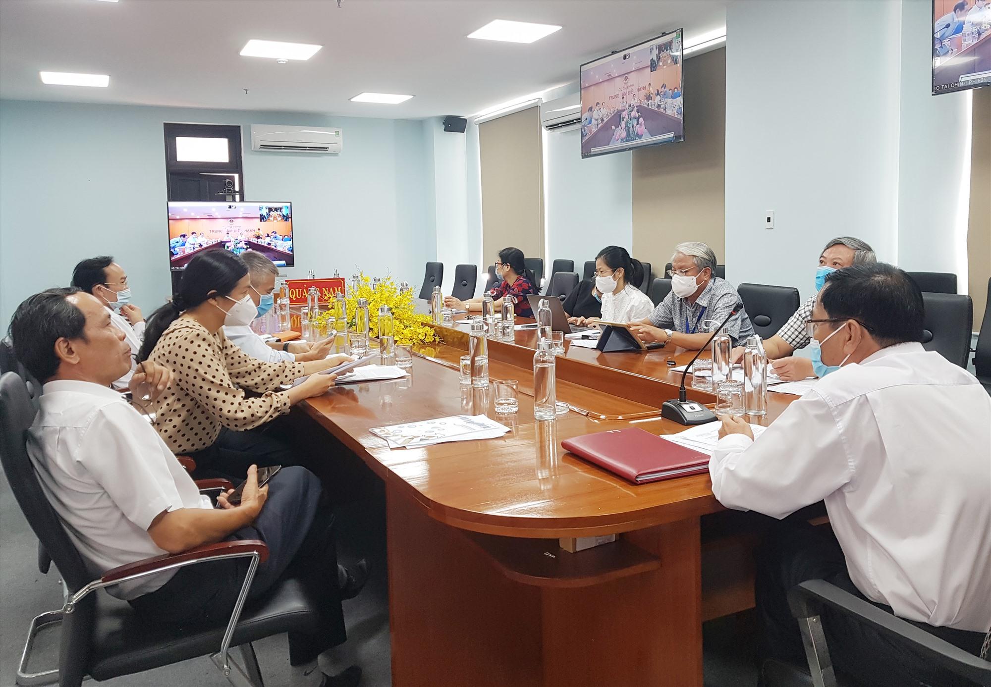 Điểm cầu trực tuyến tại Quảng Nam sáng 31.8. Ảnh: T.CÔNG