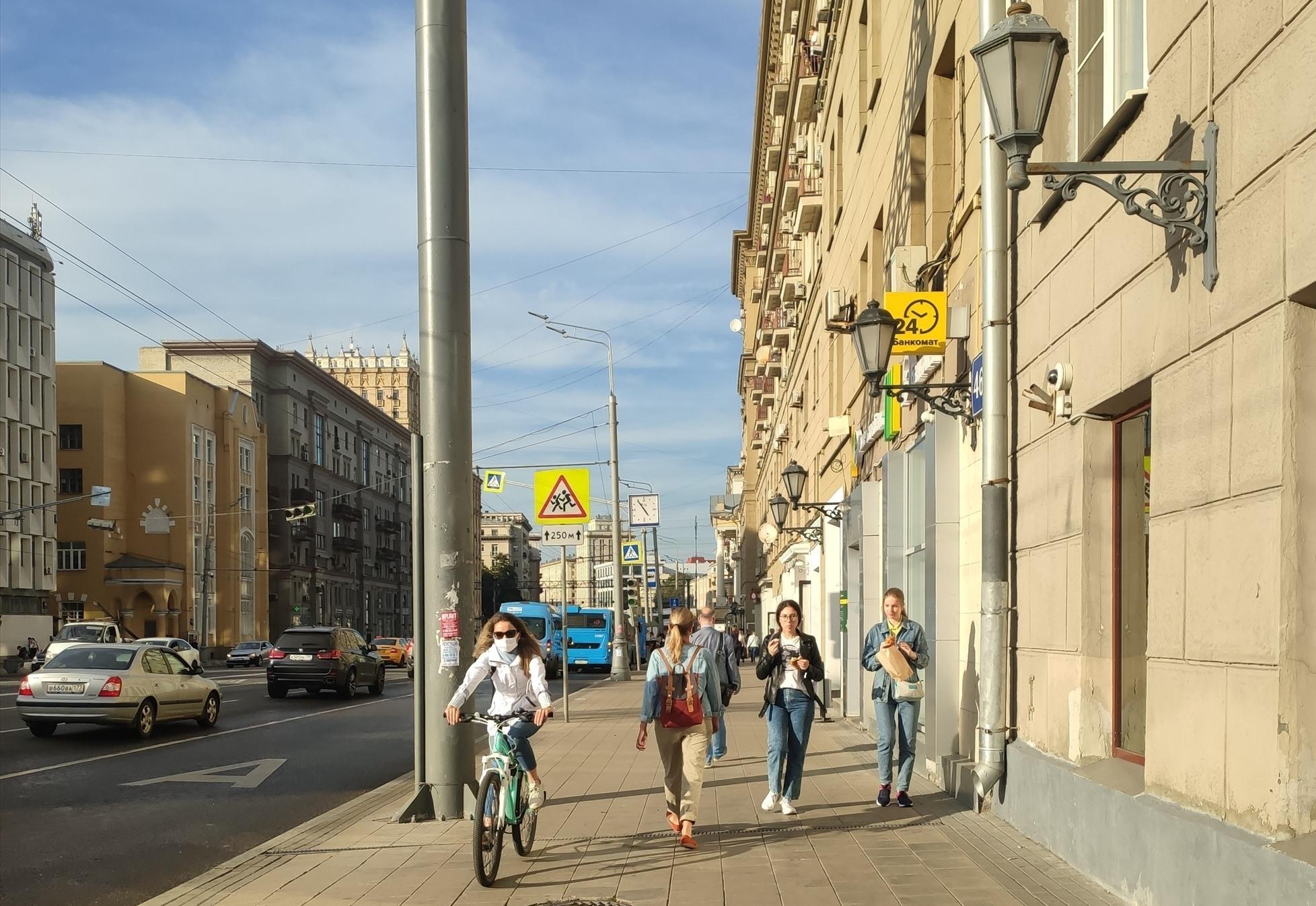 Một góc phố thủ đô Mátxcơva mùa dịch. ẢNH: NGỌC TRÃI
