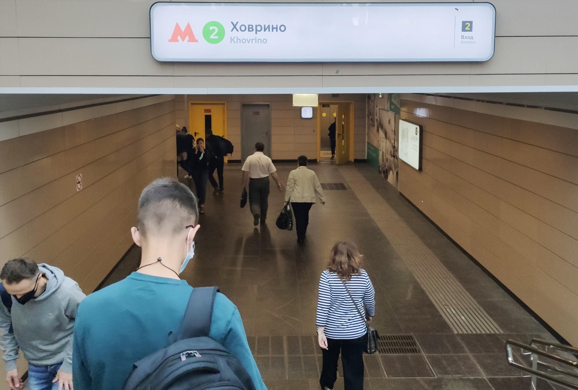 Một bến tàu điện ngầm tại Mátxcơva. ẢNH: NGỌC TRÃI