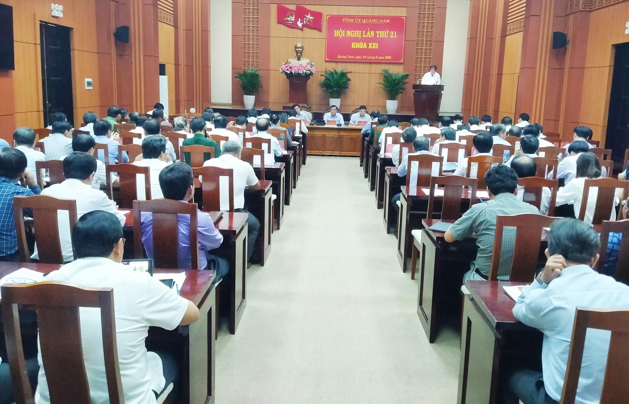 Quang cảnh Hội nghị Tỉnh ủy lần thứ 21 (khóa XXI). Ảnh: N.Đ