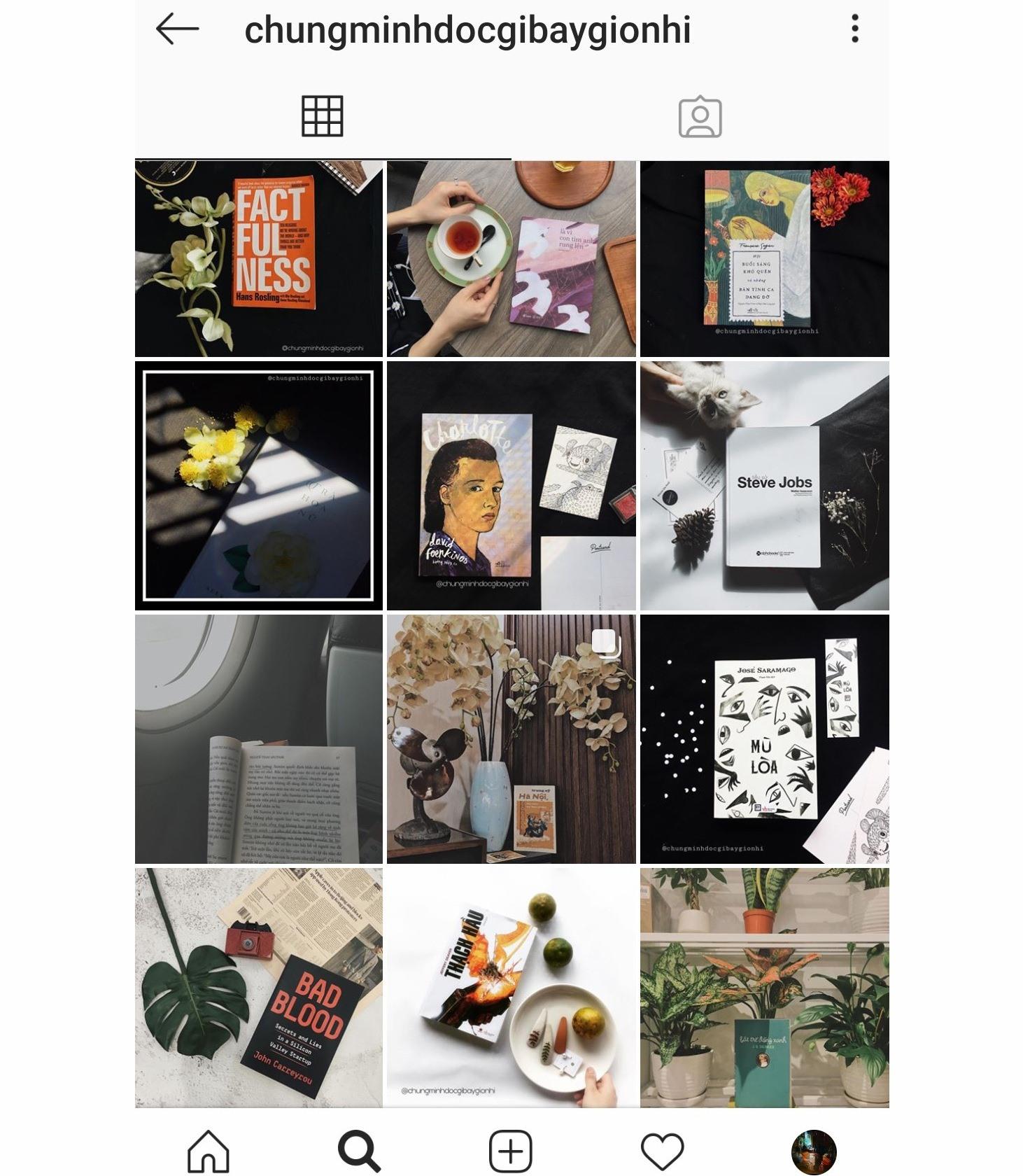 Nhiều bạn trẻ chia sẻ hình ảnh về đọc sách trên tài khoản Instagram Chúng mình đọc gì bây giờ nhỉ?