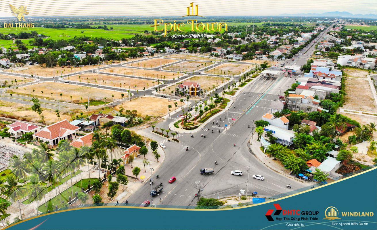 Khu Epic Town mở bán tạo cú hích cho thị trường bất động sản cửa ngõ phía bắc Quảng Nam tiếp giáp TP.Đà Nẵng. Ảnh T.B