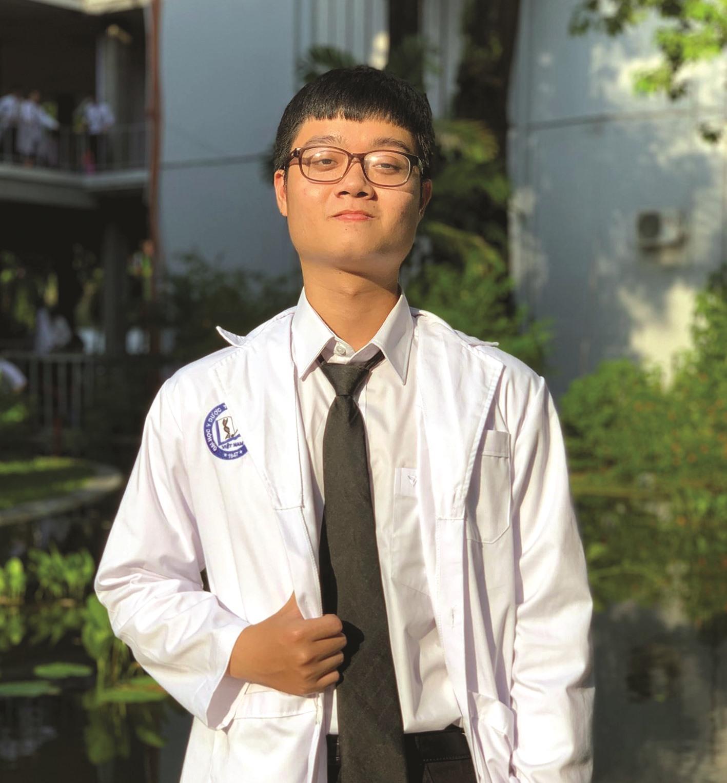 Trần Văn Tuấn - chàng sinh viên năm 3 Trường Đại học Y dược TP.Hồ Chí Minh từng là gương mặt của Quỹ ươm mầm tài năng đất Quảng năm 2018. Ảnh: T.T