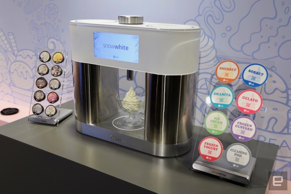 Máy làm kem để bàn ColdSnap. Ảnh: Engadget