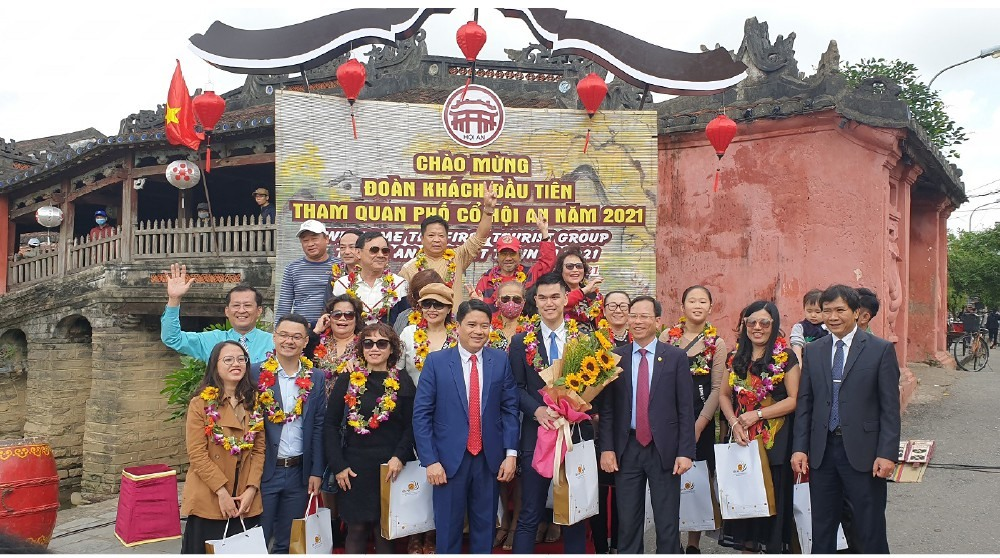 Quang Nam leaders and the first callers to Hoi An in 2021