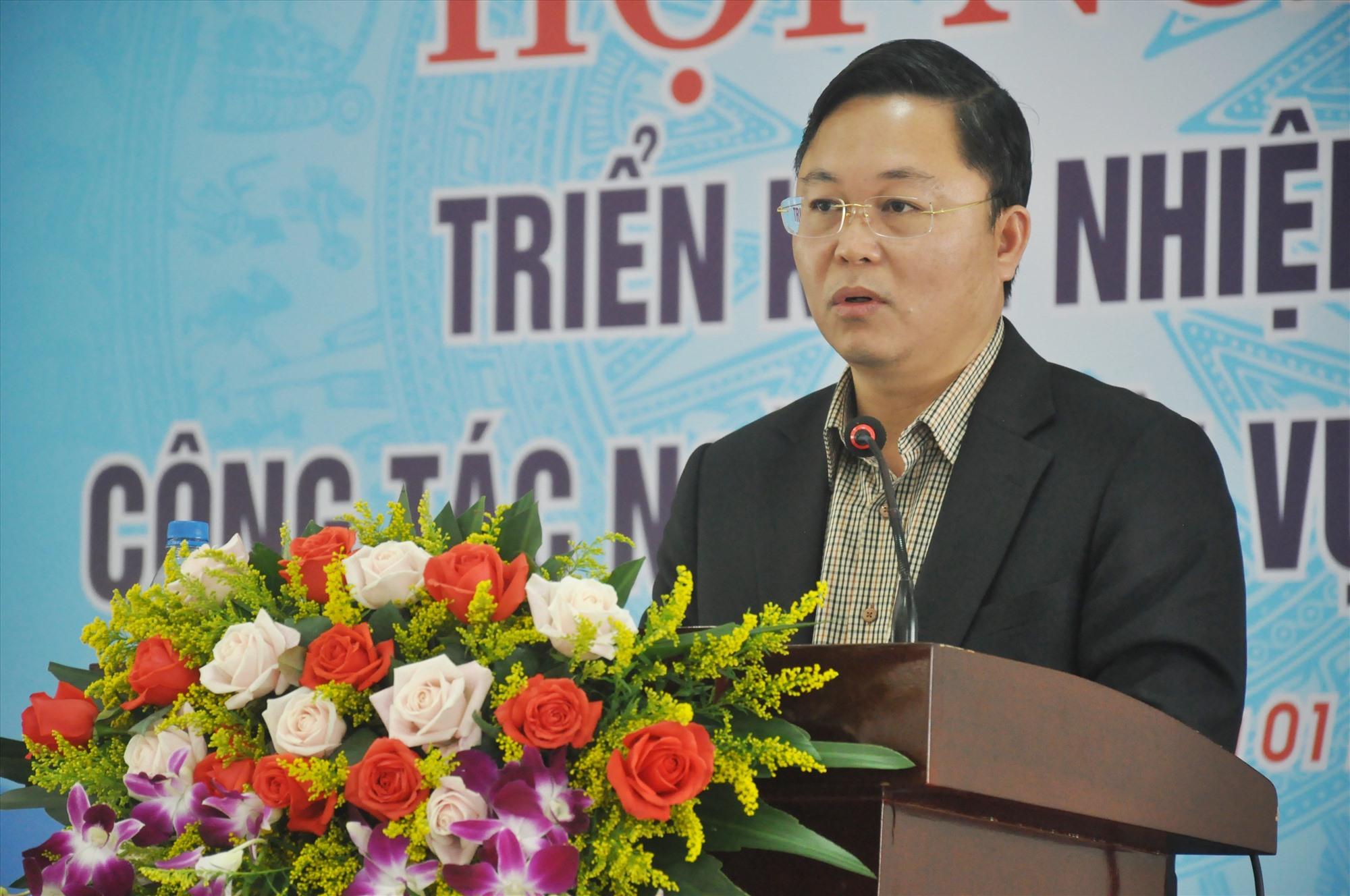 Chủ tịch UBND tỉnh Lê Trí Thanh phát biểu chỉ đạo tại hội nghị tổng kết công tác ngành nội vụ tỉnh năm 2020. Ảnh: N.Đ