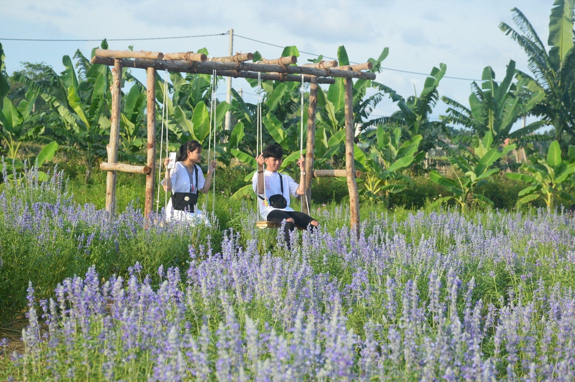 A beautiful landscape in the countryside in Quang Nam