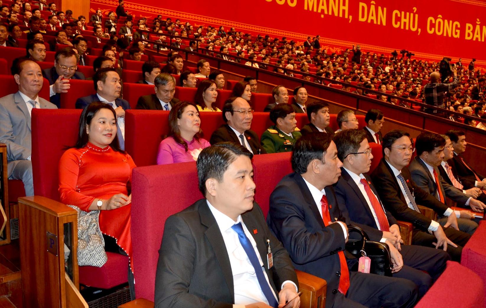 Đoàn đại biểu Quảng Nam dự đại hội. Ảnh: HỮU PHÚC