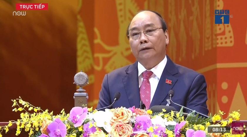 Thủ tướng Nguyễn Xuân Phúc khai mạc đại hội.