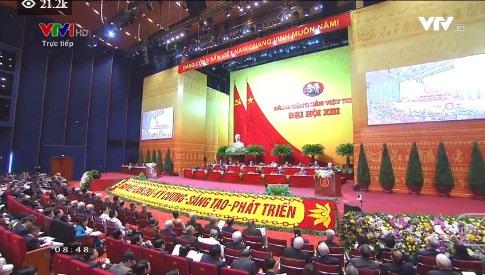 Quang cảnh hội trường đại hội.