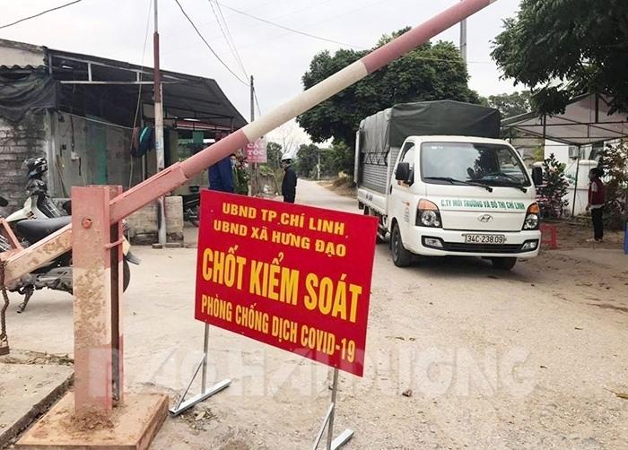 Xã Hưng Đạo (Chí Linh) đã lập 7 chốt kiểm soát và chốt chặn để phong tỏa thôn Kim Điền