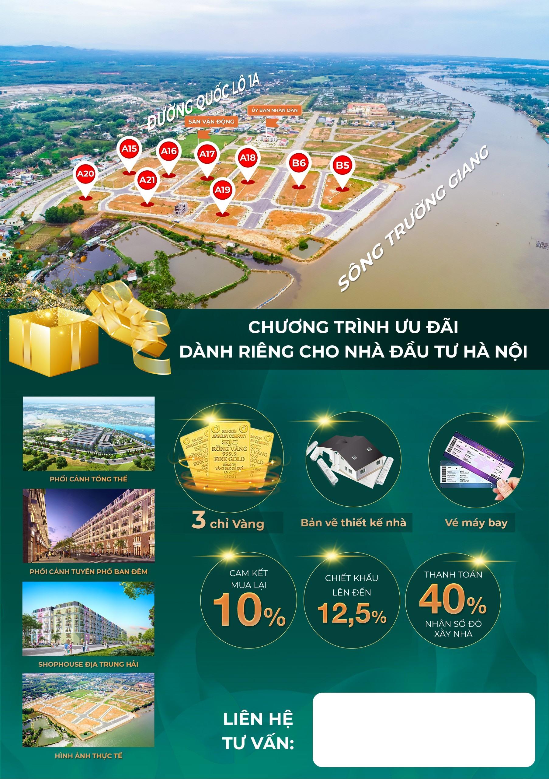 Các chính sách ưu đãi cho nhà đầu tư phía Bắc giao dịch Chu Lai Riverside