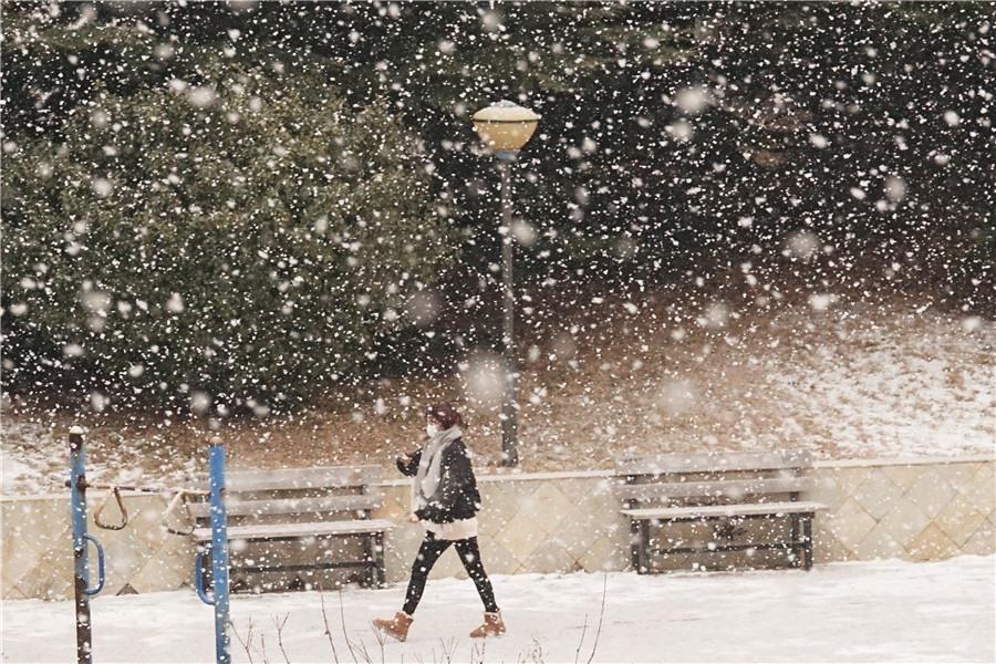 Tuyết rơi ở tỉnh Liêu Ninh, Trung Quốc những ngày gần đây. Ảnh: IC