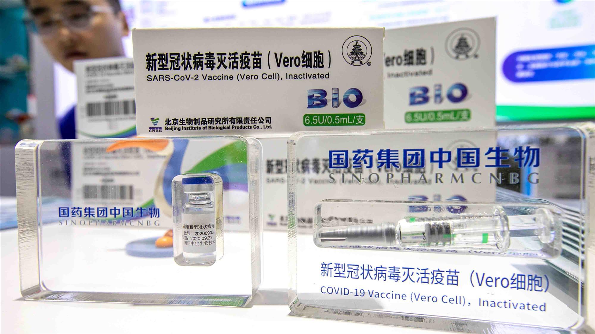 Vắc xin Vero Cell phòng Covid-19 do Sinopharm sản xuất đã được WHO cấp phép sử dụng trong trường hợp khẩn cấp. Ảnh: CGTN