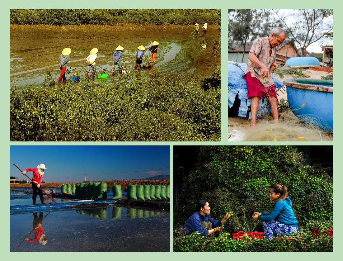 Xây dựng nông thôn mới để đổi thay toàn diện vùng nông thôn Núi Thành. Ảnh: HU.NT