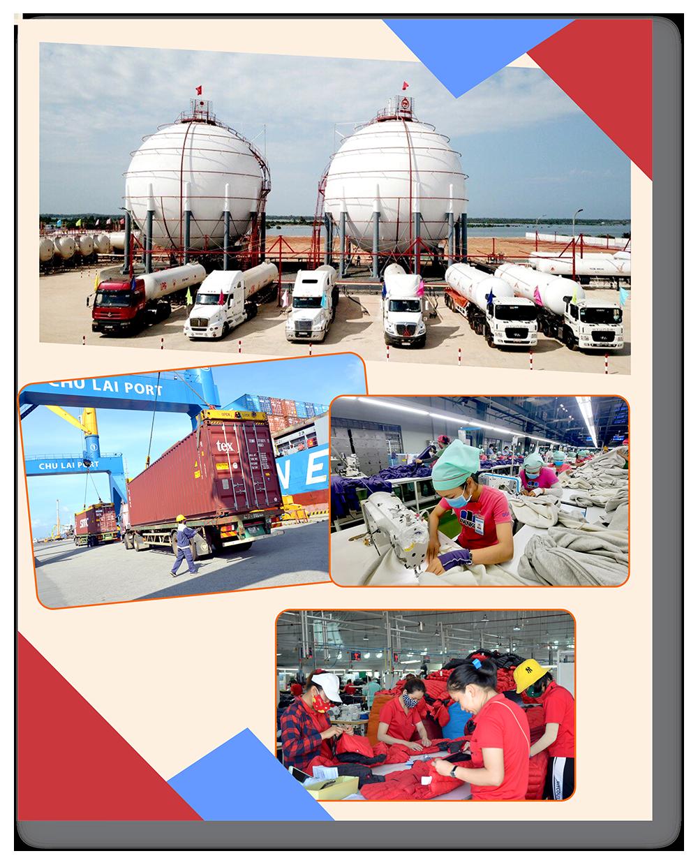 Hệ thống vận chuyển logicstics phát triển mạnh tại cảng Trường Hải - Chu Lai.