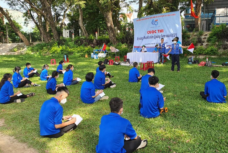Cuộc thi Kỹ năng thanh niên Quảng Nam. Ảnh: A.B