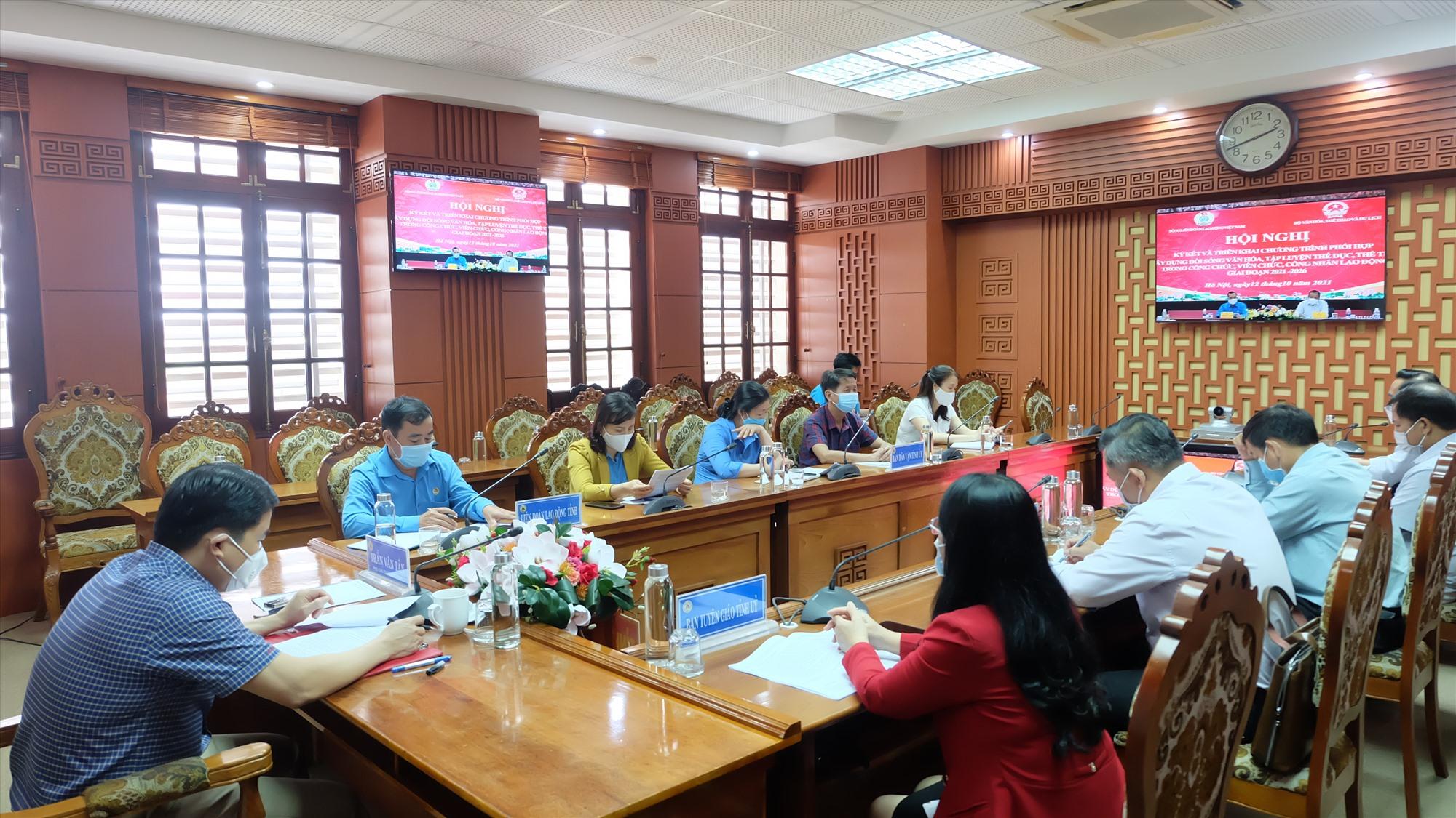 Các đại biểu dự hội nghị tại điểm cầu Quảng Nam. Ảnh: M.L