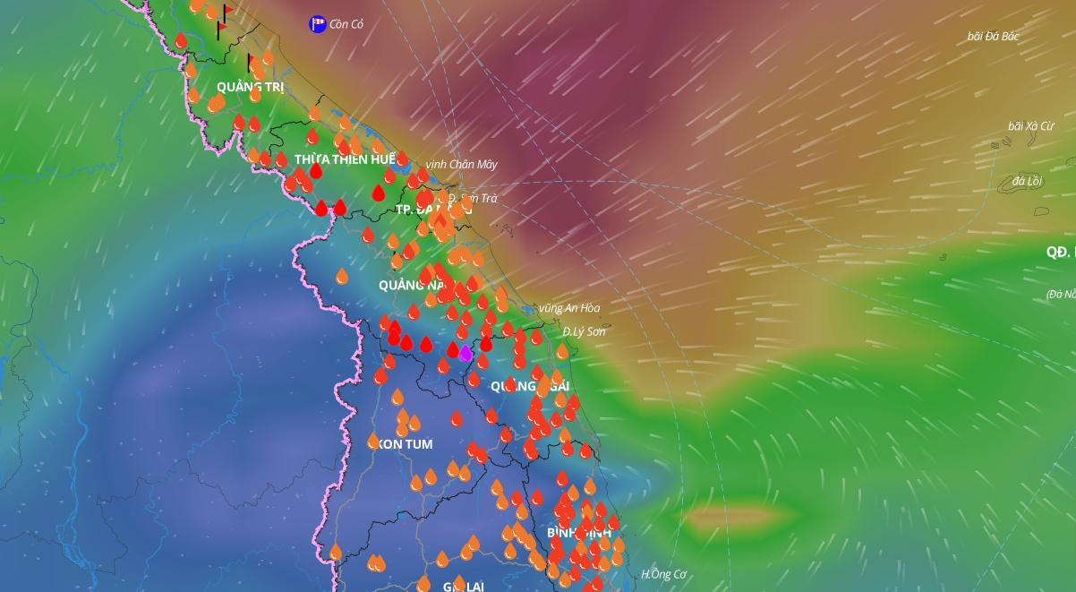 Xuất hiện vùng áp thấp gần bờ, Quảng Nam...