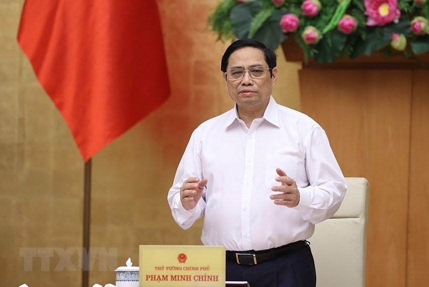 Thủ tướng Phạm Minh Chính chủ trì phiên họp Chính phủ thường kỳ tháng 9. Ảnh: TTXVN