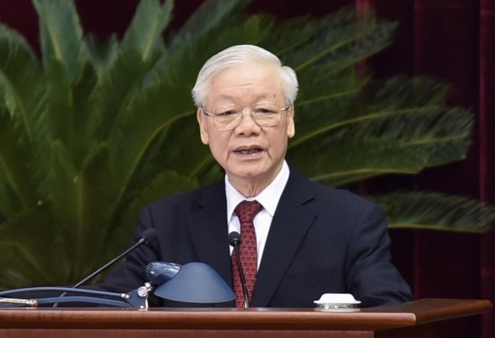 Tổng Bí thư Nguyễn Phú Trọng phát biểu tại Hội nghị - (Ảnh: Hiếu Minh/VOV.VN)