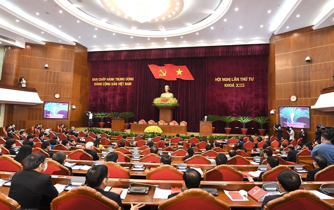 Phiên bế mạc Hội nghị lần thứ 4 Ban Chấp hành Trung ương khóa XIII (Ảnh: Ngọc Thành)