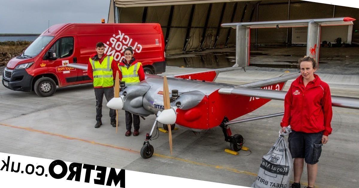 May bay không người lái chuyển bưu phẩm đến các khu vực xa xôi tại Scotland, vừa góp phần bảo vệ môi trường không khí thải. Ảnh: gettyimage