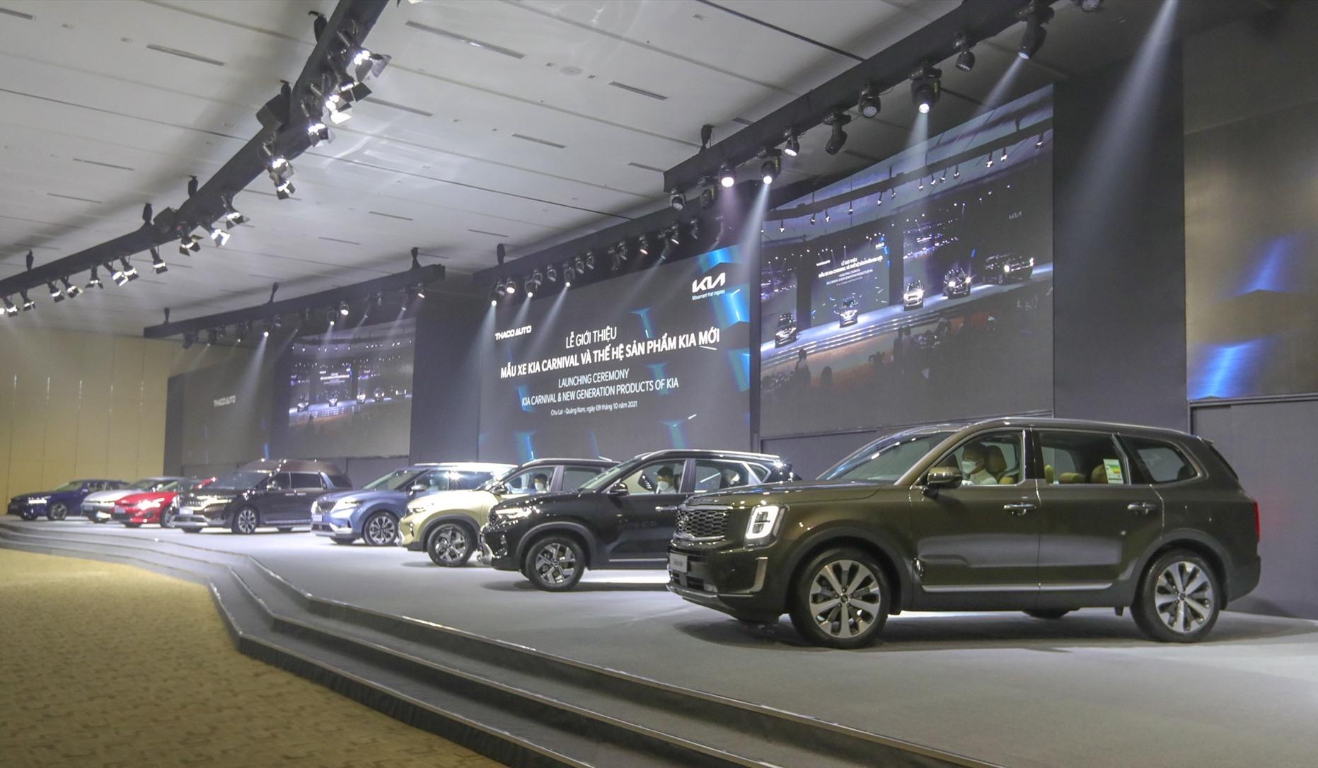 Các sản phẩm của Kia được Thaco giới thiệu lần này