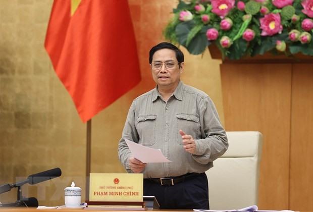 Thủ tướng Phạm Minh Chính phát biểu. (Ảnh: Dương Giang/TTXVN)