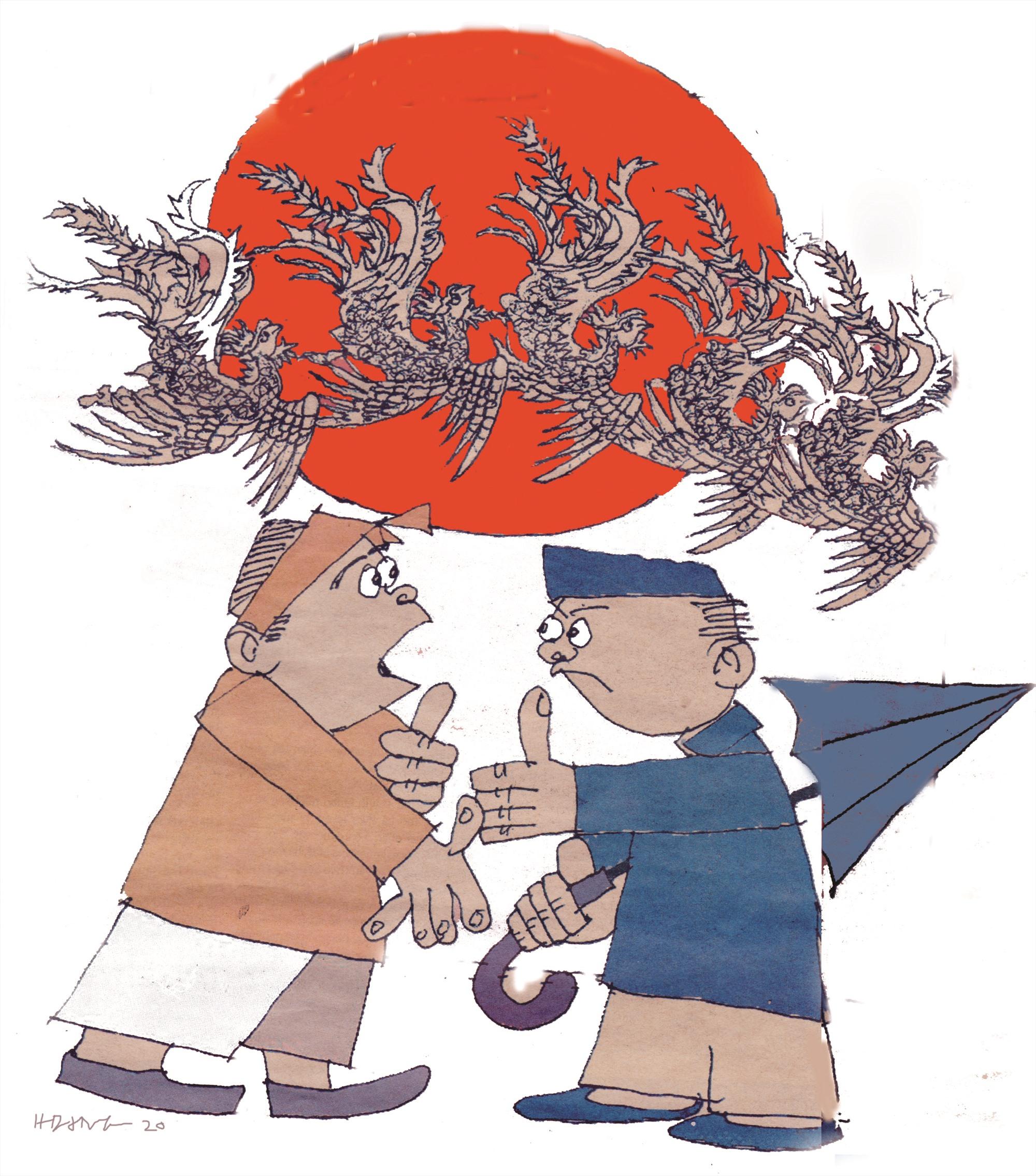 """""""Quảng Nam hay cãi"""" - minh họa của Hoàng Đặng."""