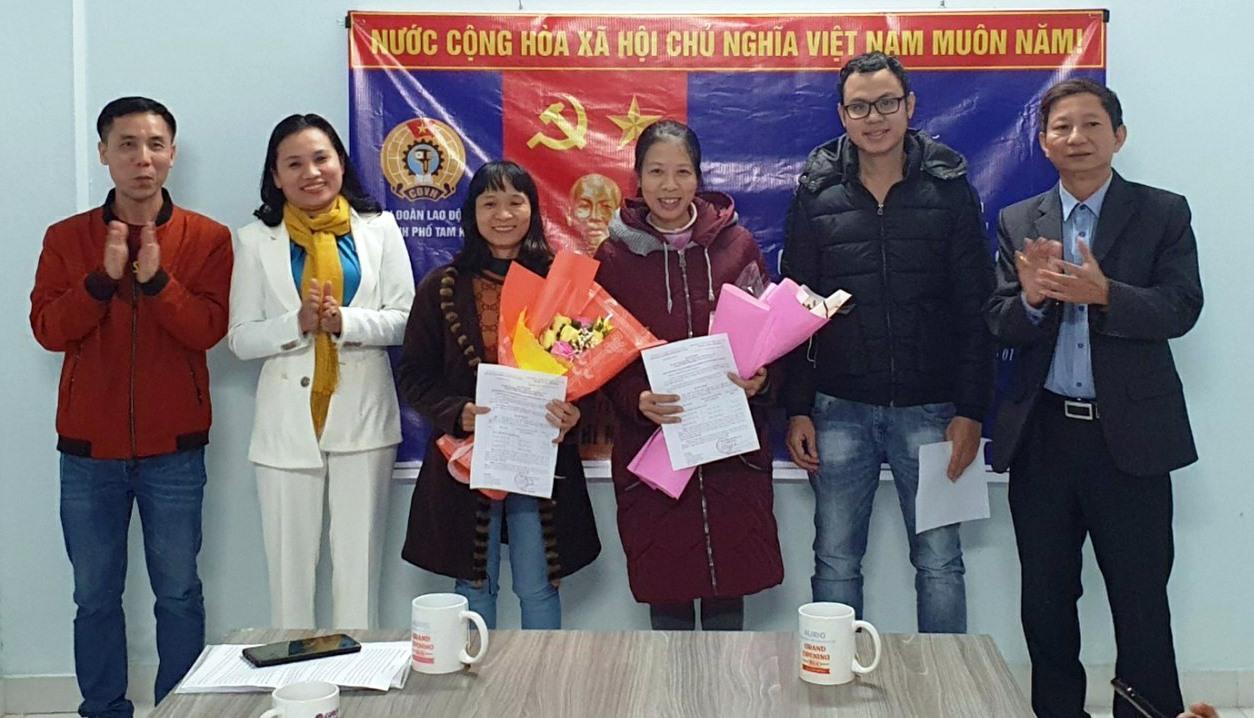 Thành lập Công đoàn Công ty TNHH Công nghệ chiếu sáng Ledup tại phường Trường Xuân, TP.Tam Kỳ