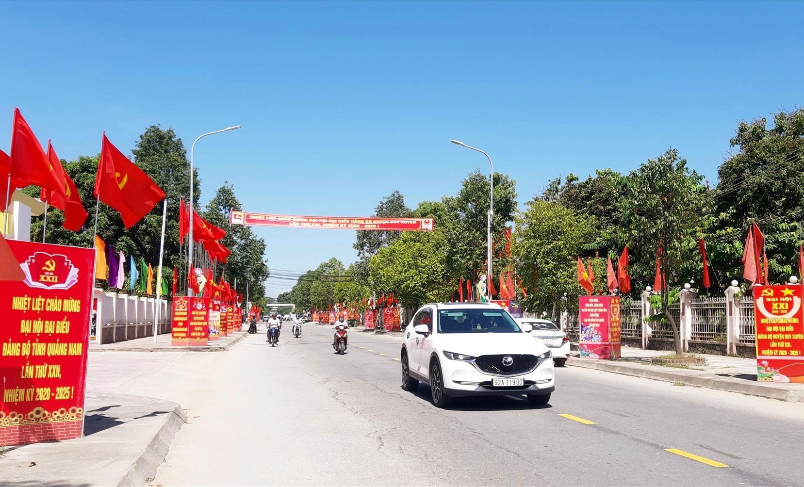 Diện mạo huyện Duy Xuyên ngày càng khang trang. Ảnh: VĂN SỰ