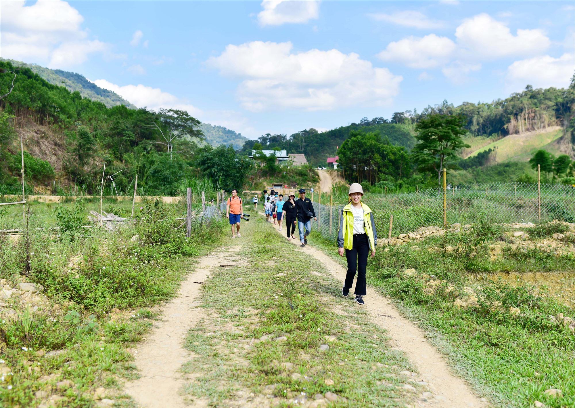 Hầu hết điểm du lịch cộng đồng ở vùng cao Quảng Nam đã hình thành được hợp tác xã, tổ hợp tác để chia sẻ hài hòa lợi ích, tạo sự đồng bộ trong việc phát triển du lịch. Ảnh: Q.T