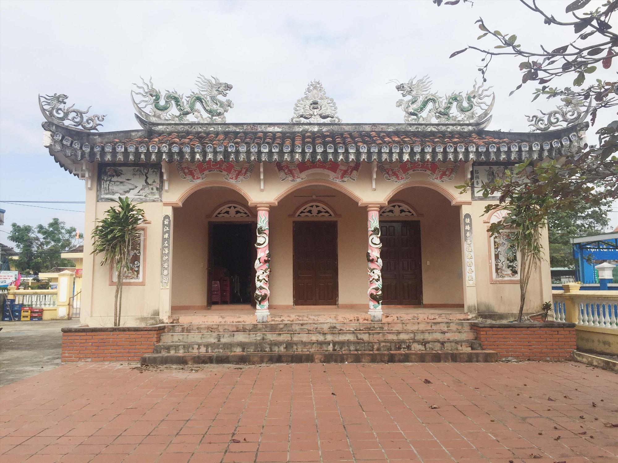 Đình làng Vĩnh Bình - xã Tam Thăng, TP.Tam Kỳ. Ảnh: PHÚ BÌNH