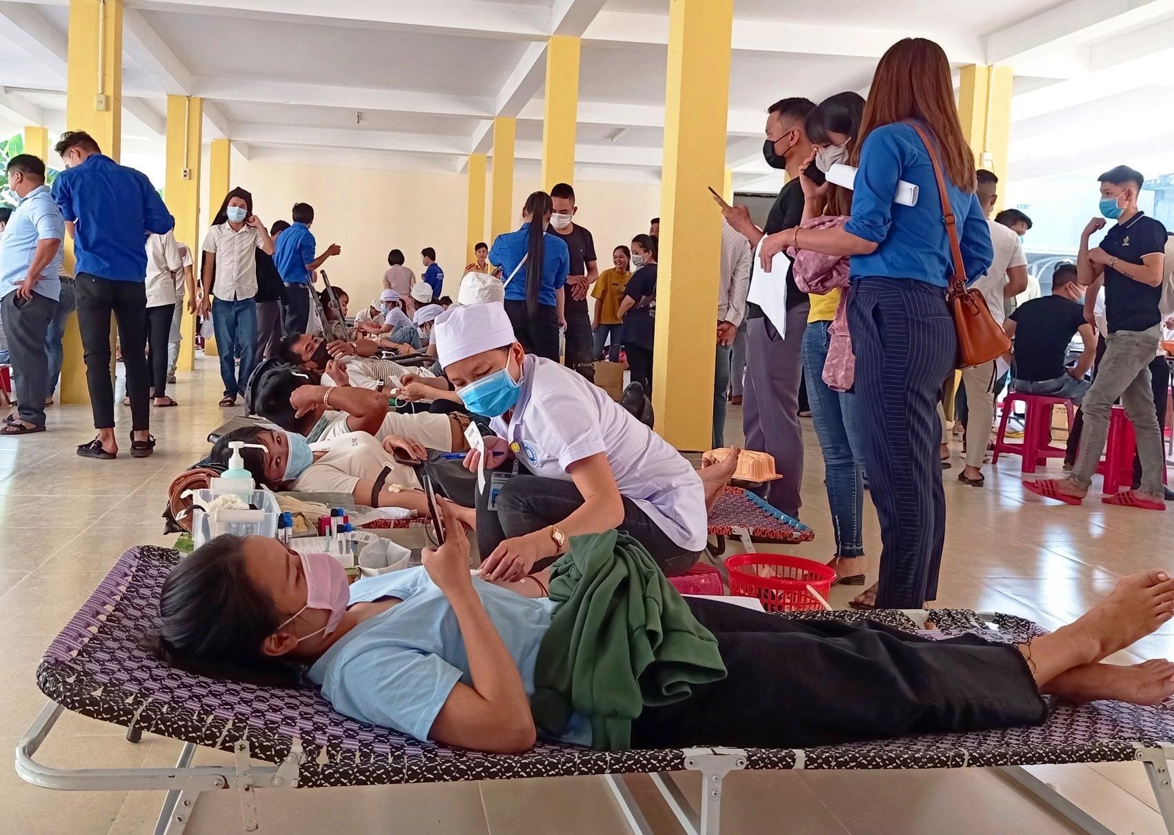 Phong trào hiến máu tình nguyện ở Quảng Nam lan tỏa mạnh mẽ. Ảnh: HOÀNG LIÊN