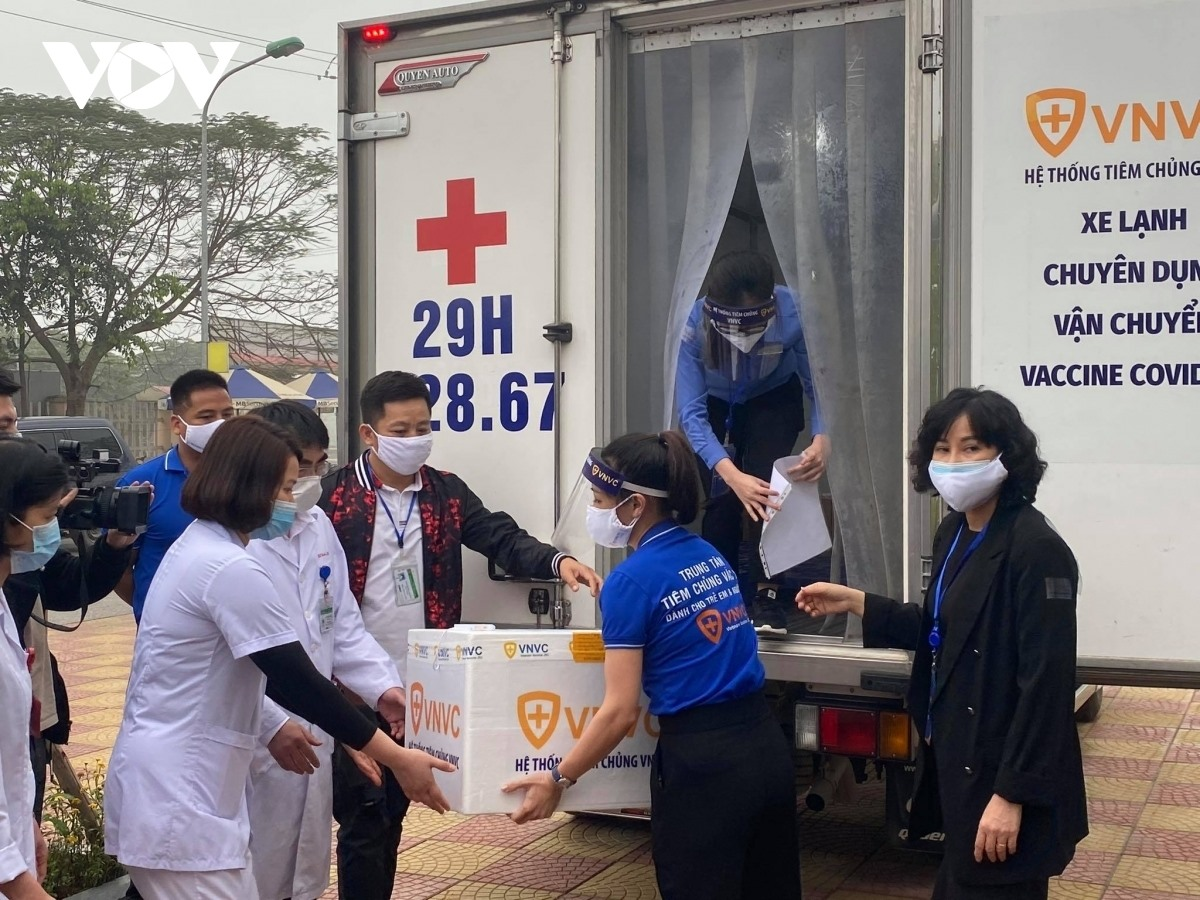 The first doses of the AstraZeneca vaccine has arrived in Vietnam for the national COVID-19 vaccination campaign which was launch on March 8.