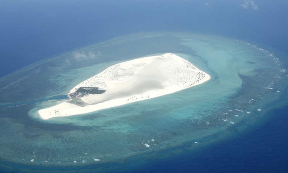 Triton Island in the Paracel Islands. Photo by Google Maps.