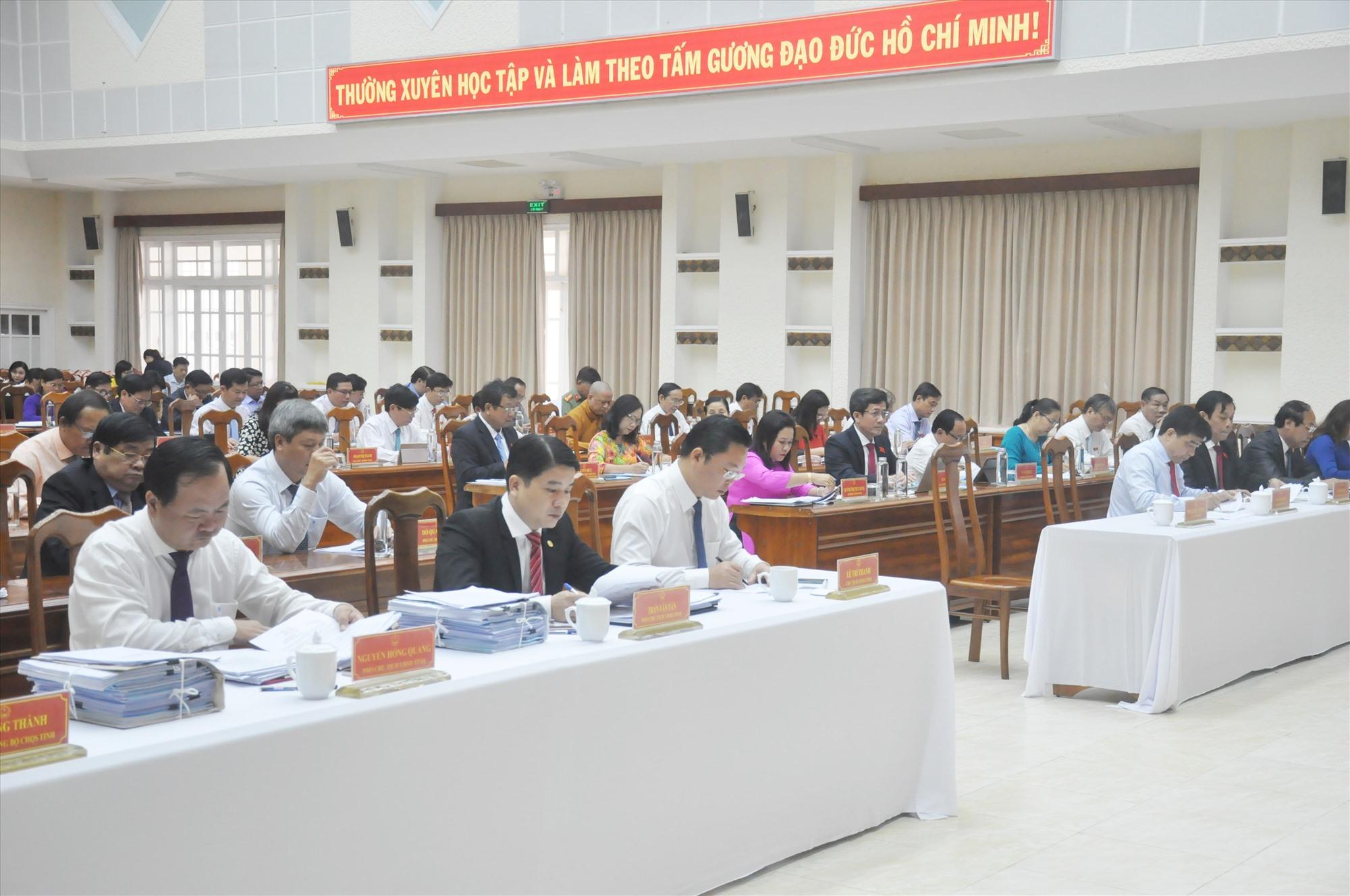 Các đại biểu dự Kỳ họp thứ 22. Ảnh: N.Đ