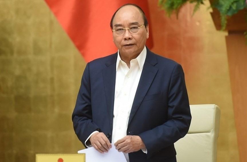 Thủ tướng Nguyễn Xuân Phúc được giới thiệu ứng cử đại biểu Quốc hội khoá XV ở Khối Chủ tịch nước. Ảnh: Quang Hiếu.Ảnh: VGP