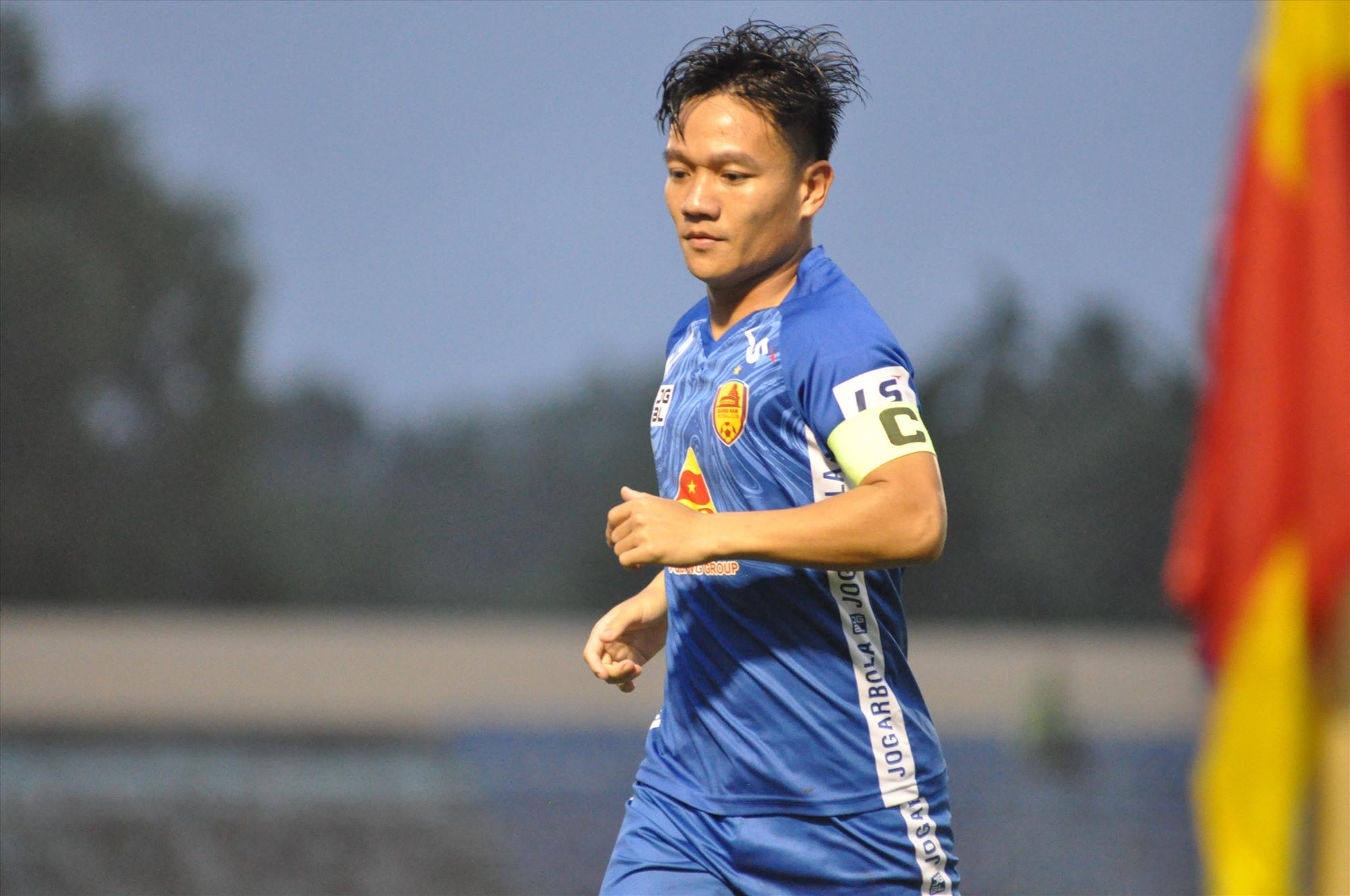 Thanh Trung vẫn là linh hồn của đội Quảng Nam. Ảnh: A.S