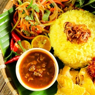 Chicken rice in Hoi An. Photo: cooky