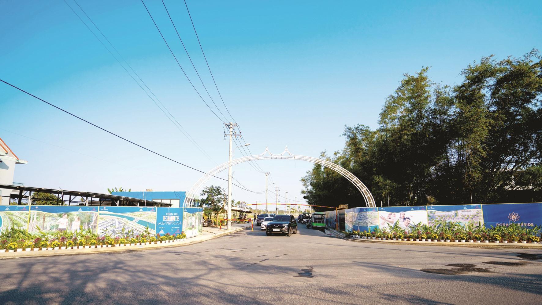 Đường vào một dự án chuỗi đô thị (tại phường Điện Dương) do An Dương làm chủ đầu tư xây dựng xong khoảng 90% hạ tầng khung. Ảnh: T.C.T