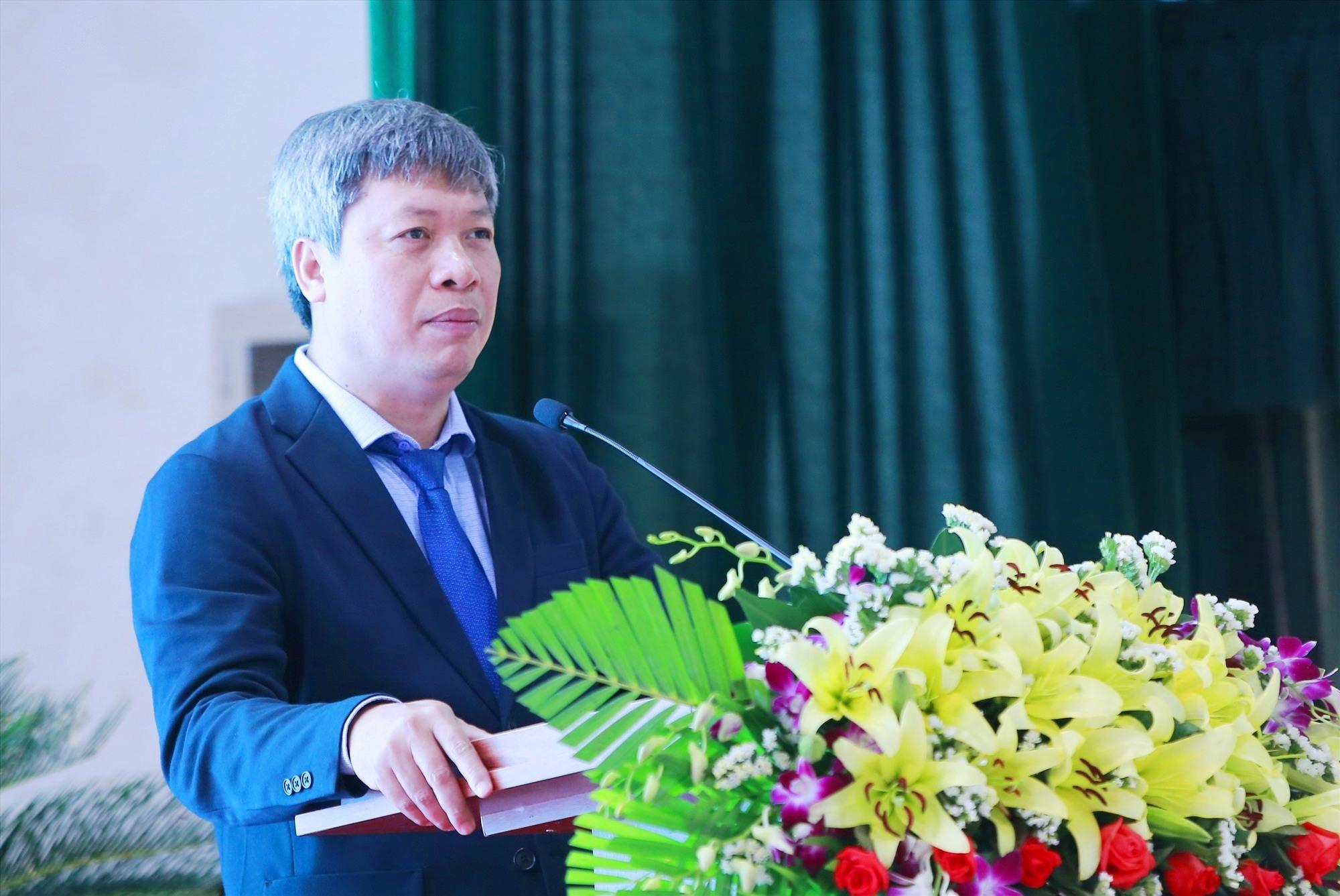 Phó Chủ tịch UBND tỉnh Hồ Quang Bửu phát biểu tại hội thảo. Ảnh: C.V