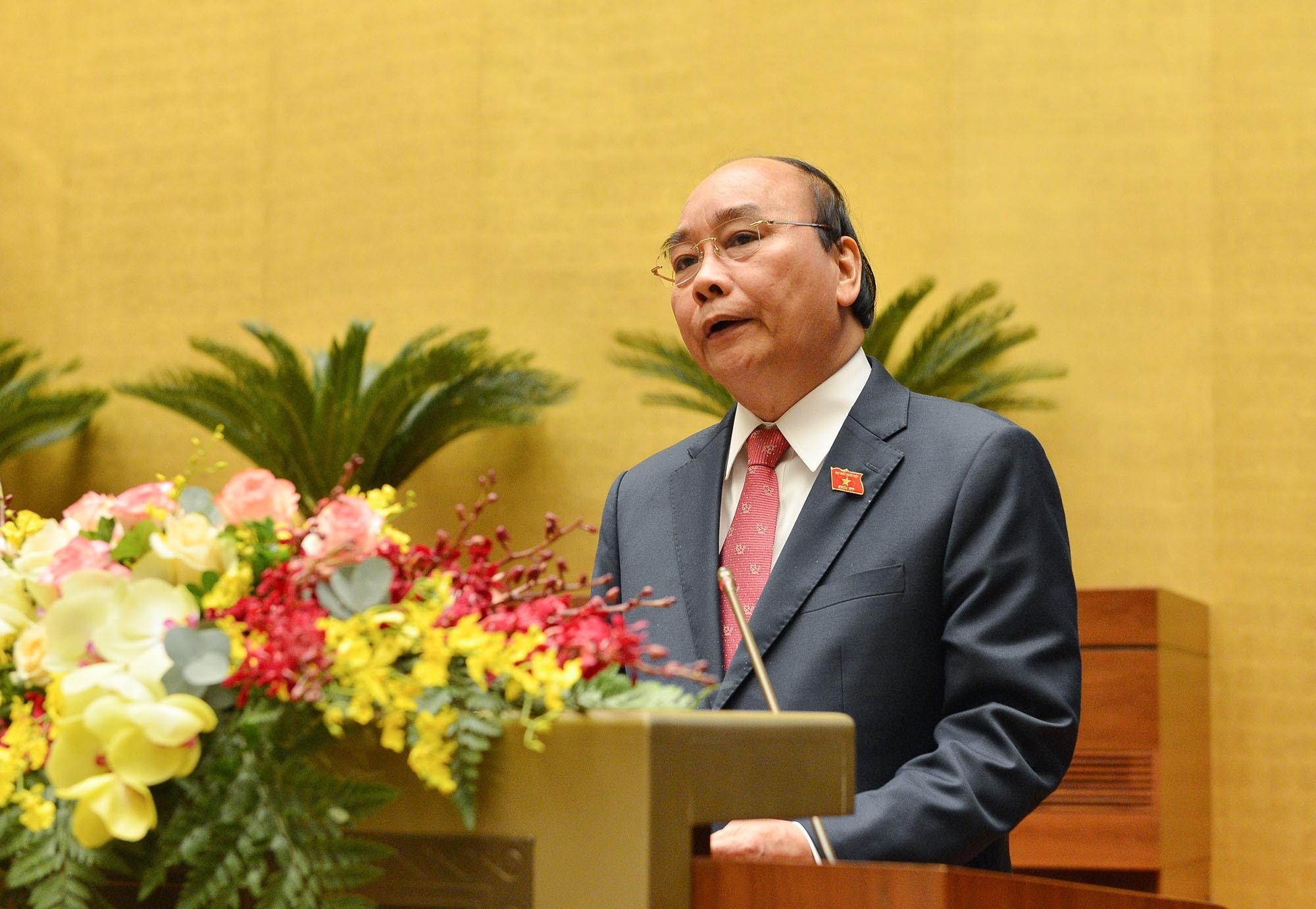 Thủ tướng Chính phủ Nguyễn Xuân Phúc đã trình bày Báo cáo tổng kết công tác nhiệm kỳ 2016-2021 của Chính phủ.