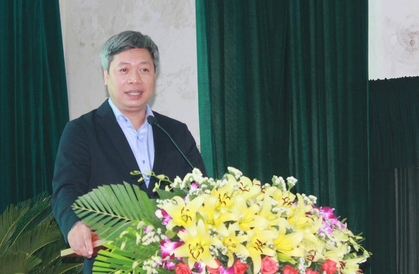 Phó Chủ tịch UBND tỉnh Hồ Quang Bửu phát biểu tại diễn đàn. Ảnh: C.V
