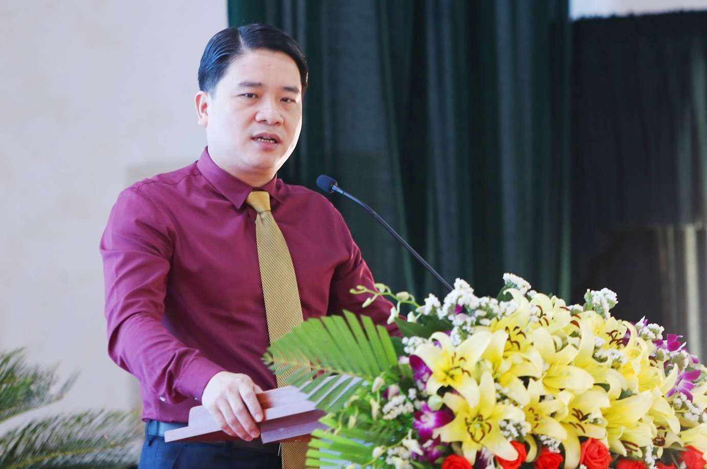 Phó Chủ tịch UBND tỉnh Trần Văn Tân phát biểu bế mạc ngày hội khởi nghiệp sáng tạo Quảng Nam lần thứ II