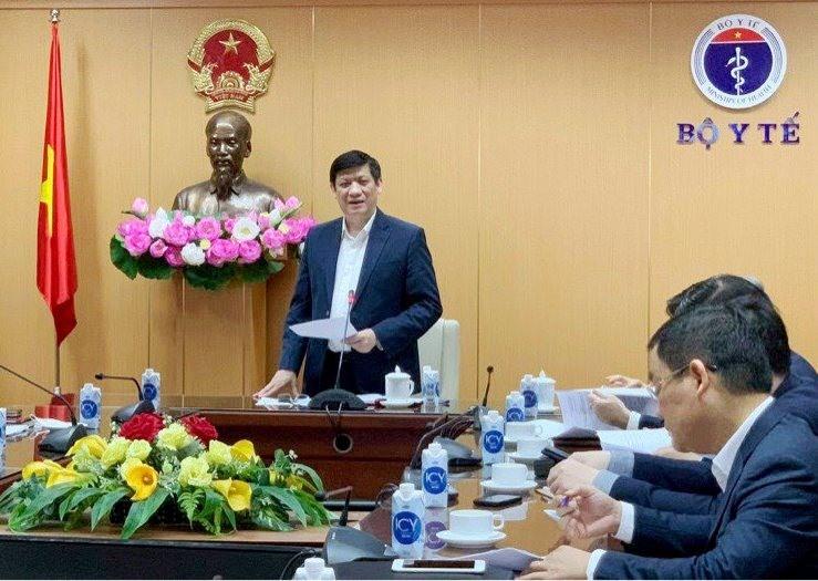 Bộ trưởng Y tế Nguyễn Thanh Long phát biểu tại Hội nghị. - Ảnh: VGP