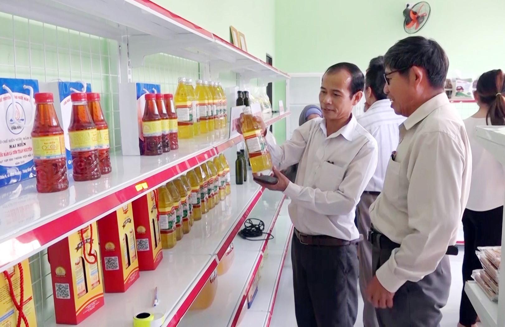 Thăng Bình chú trọng phát triển các sản phẩm đạt chuẩn OCOP. Ảnh: M.T